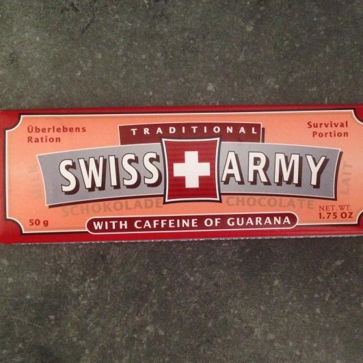 Emergency chocolate w/ caffeine