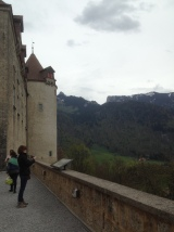 Castle on the left